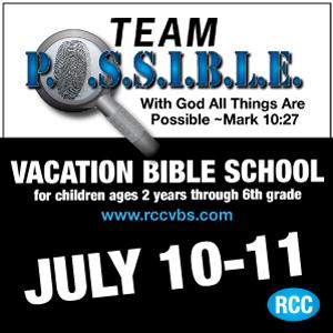 Register for VBS at rccvbs.com