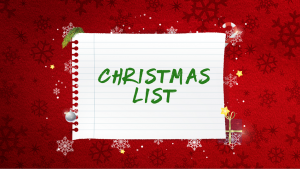 Jesus' Christmas List